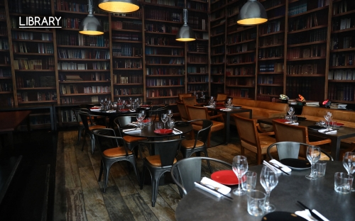 Library - Restaurant BON 75116 Paris